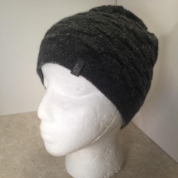 11af0d6bb Shupaca Gray Knit 100% Baby Alpaca Beanie Hat